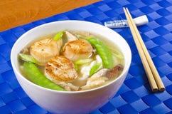 noodle σούπα οστράκων Στοκ Φωτογραφίες