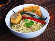 Noodle σούπα. τρόφιμα της Ασίας Στοκ Φωτογραφία