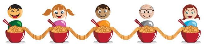 noodle τύπων Στοκ Εικόνες