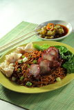 Noodle. Malaysian chinese Wan Ton noodle royalty free stock image