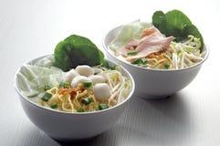 noodle κρέατος ψαριών σφαιρών σούπα Στοκ φωτογραφίες με δικαίωμα ελεύθερης χρήσης