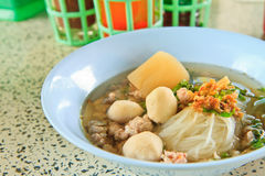 Noodle. Thai Noodle Soup with Meat stock images