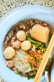 Noodle. Thai Noodle Soup with Meat royalty free stock photos