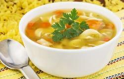 Noodle κοτόπουλου σούπα Στοκ εικόνες με δικαίωμα ελεύθερης χρήσης