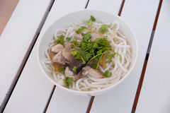 Noodle with beef Stock Photography