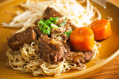 Noodle with beef royalty free stock photography