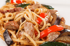 Noodle with beef Royalty Free Stock Images