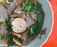 Noodle with beef (called Bun Bo), Vietnamese cuisine stock image