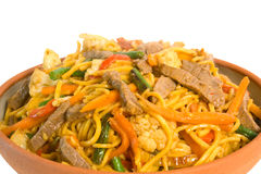 Noodle Beef Stir Fry Stock Images