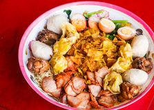 Noodle big bowl. In Thailand Stock Photography