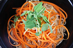 Noodle bowl carrots Stock Photos