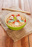 Noodle in bowl with chopsticks Royalty Free Stock Photography