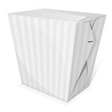 Noodle box. Striped noodle box. Take away food. Vector illustration Royalty Free Stock Photography