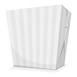 Noodle box. Striped noodle box. Take away food. Vector illustration Royalty Free Stock Image