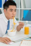 Noodle business Royalty Free Stock Photo