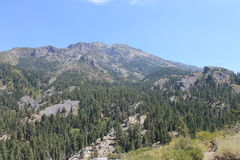 Noodle Canyon and Mountain View, High Sierra Nevada Mountains, California Royalty Free Stock Images