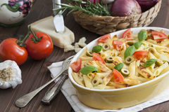 Noodle Casserole vegetarian Stock Photo