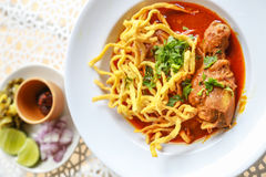 Noodle in Chicken Curry. A Noodle in Chicken Curry Stock Image