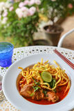 Noodle in Chicken Curry. A Noodle in Chicken Curry Royalty Free Stock Photos