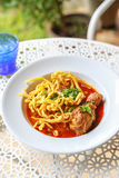 Noodle in Chicken Curry. Thai Royalty Free Stock Images