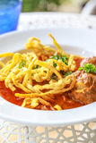 Noodle in Chicken Curry. Thai food Stock Photography