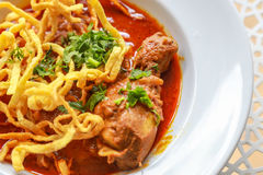 Noodle in Chicken Curry. Thai food Stock Image