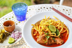 Noodle in Chicken Curry. Thai food Royalty Free Stock Image
