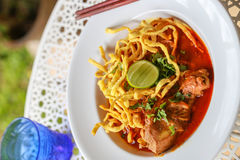 Noodle in Chicken Curry. Thai food Stock Photo