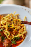 Noodle in Chicken Curry. Thai food Stock Images