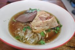 Noodle or chicken noodle or duck noodle Stock Image