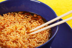 Noodle with chopsticks royalty free stock images