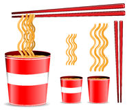 Noodle cup vector illustration