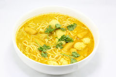 Noodle curry laksa Royalty Free Stock Image