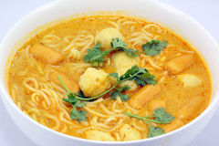 Noodle curry laksa Royalty Free Stock Images