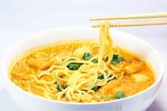 Noodle curry laksa Stock Photos