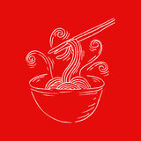 Noodle doodle Royalty Free Stock Photos