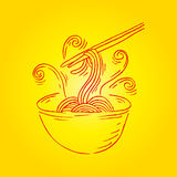 Noodle doodle Royalty Free Stock Image