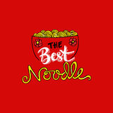 Noodle doodles. Hand drawing Noodle doodles Background vector illustration