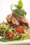 Noodle and duck salad Royalty Free Stock Image