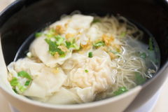 Noodle and dumpling Stock Photo