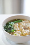 Noodle and dumpling Royalty Free Stock Image