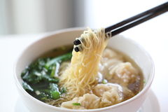 Noodle and dumpling royalty free stock photo