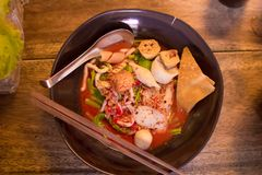 Noodle with fish ball. Stock Image