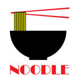 Noodle Food Sign. A illustration of Noodle Food Sign Royalty Free Stock Photo