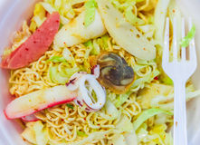The noodle food at thailand. Stock Photos