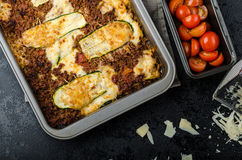 Noodle-Free Zucchini Ribbon Lasagna Royalty Free Stock Photography