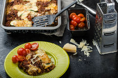 Noodle-Free Zucchini Ribbon Lasagna Stock Images