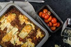 Noodle-Free Zucchini Ribbon Lasagna Royalty Free Stock Image