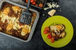 Noodle-Free Zucchini Ribbon Lasagna Stock Photo