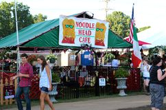 Noodle Head Cafe at The Memphis Italian Festival Sign Stock Photography